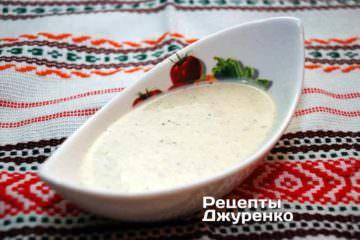 Сливочный соус с голубым сыром