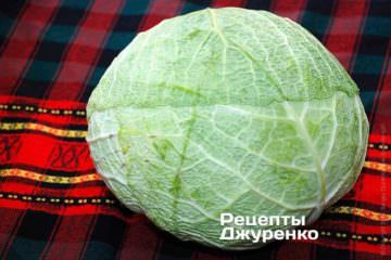 Кочан савойской капусты