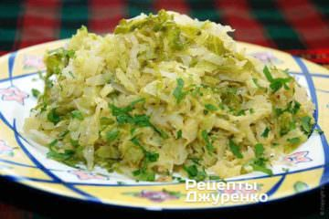Фото до рецепту: савойська капуста тушкована