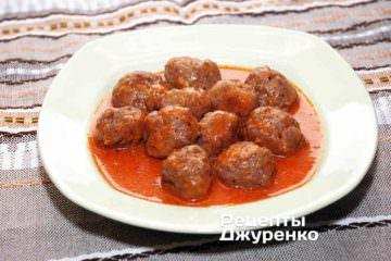 Тефтелі в томатному соусі