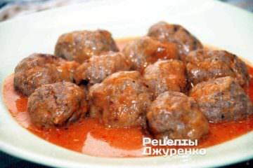 Фото рецепта тефтелі з яловичини
