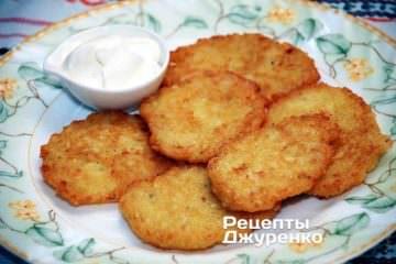 Фото рецепта деруны картофельные без терки