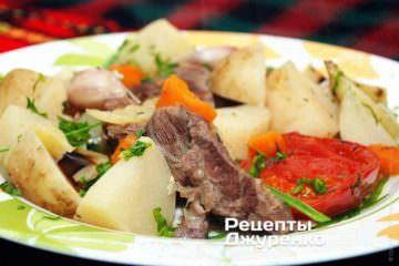 Фото рецепта говядина с овощами