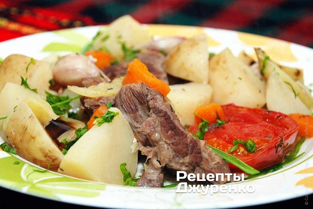 яловичина з овочами фото рецепту