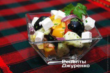 Фото рецепта греческий салат