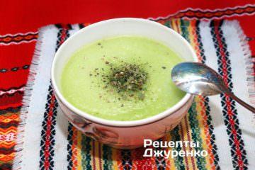 Фото рецепта суп з кабачків