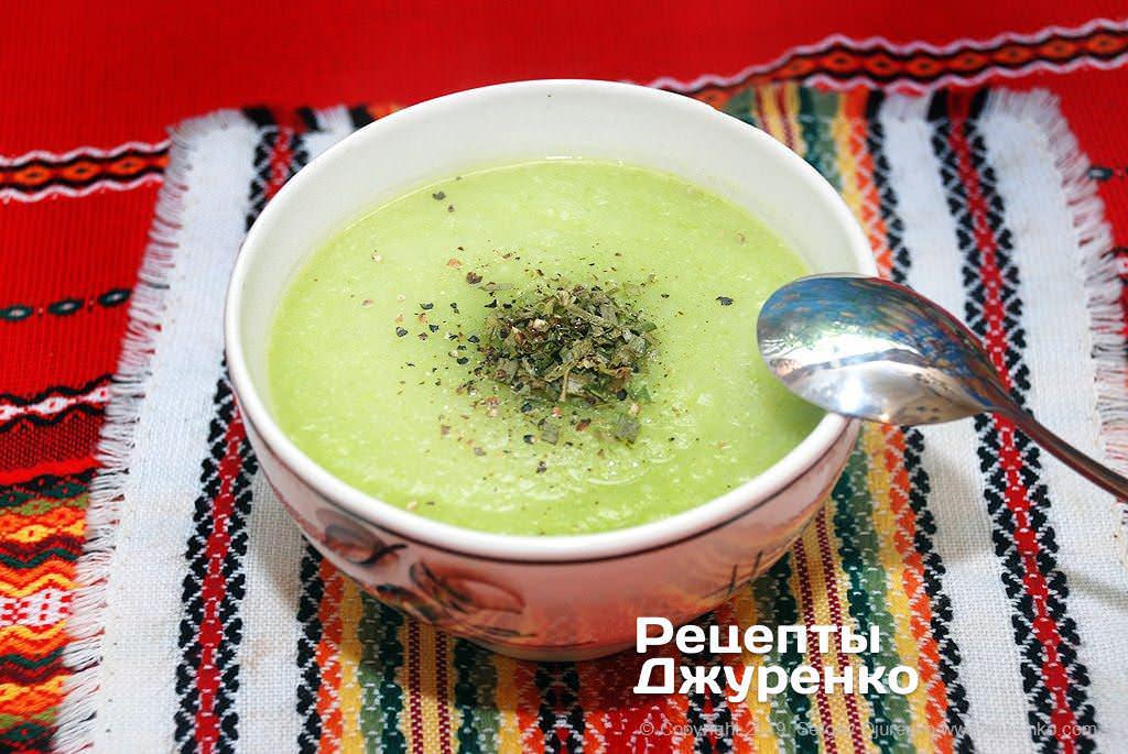 суп з кабачків фото рецепту