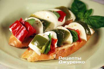 Фото до рецепту: бутерброд з сиром і перцем