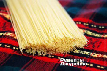 Мне больше всего нравятся тонкие спагетти обычной длины и с толщиной чуть более 1 мм. Их называют капеллини