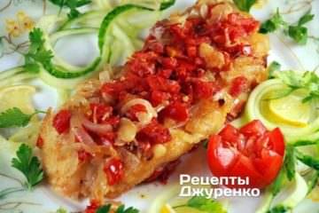 Фото рецепта запеченный судак