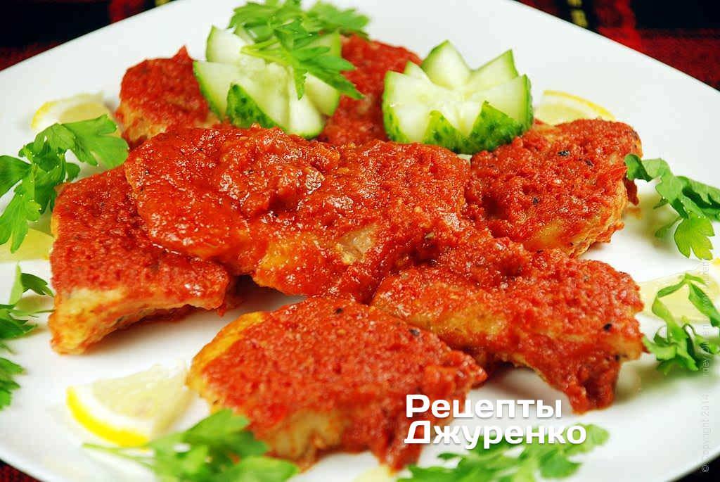 Фото готового рецепта рыба в томате в домашних условиях