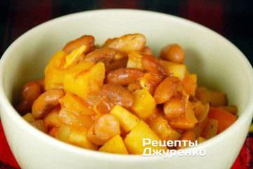 Фото к рецепту: фасоль с овощами