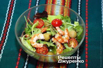 Салат скреветками
