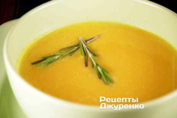 Крем-суп из тыквы со сливками буде иметь несколько более светлый оттенок и выраженный сливочный вкус