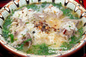 Фото рецепта суп з яловичини
