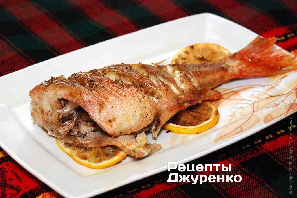 Рецепт приготовления морского окуня в духовке с картошкой