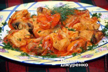 Фото рецепта куряче філе з грибами