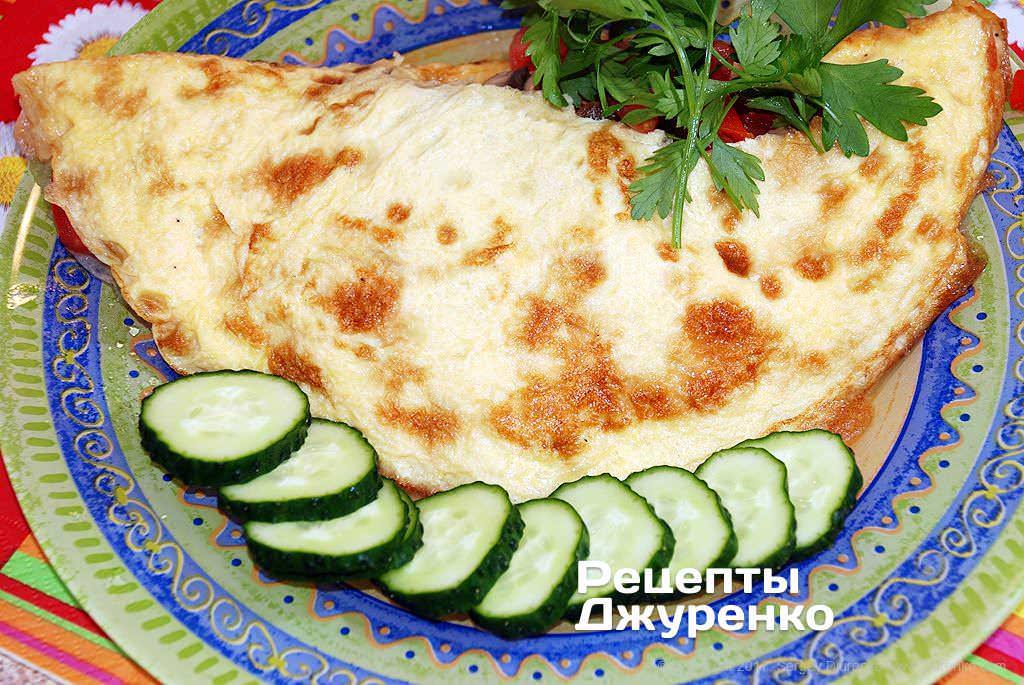 омлет с помидорами фото рецепта