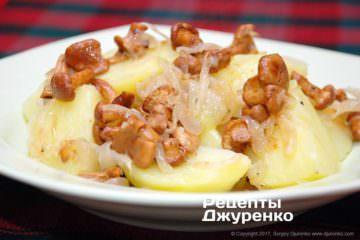 Фото рецепта жареные лисички