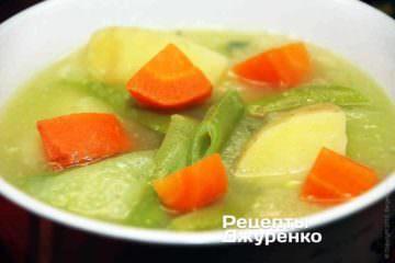 Густой суп с овощами