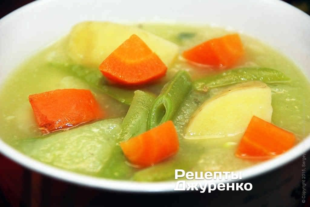 Суп пюре з овочами