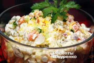 Фото к рецепту: салат оливье с мясом