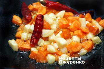 Овощи должны обжариться