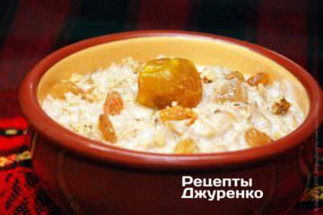 Фото рецепта вівсянка