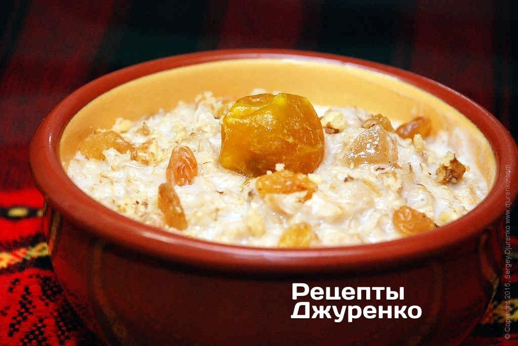 Фото готового рецепту вівсянка в домашніх умовах