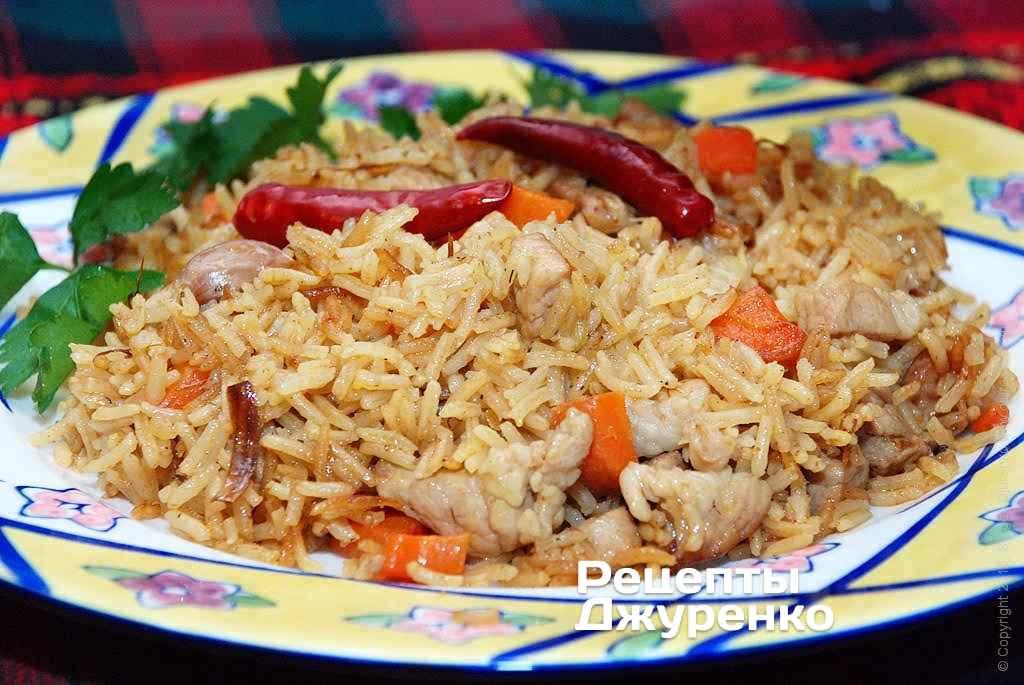 Фото готового рецепта свинина с рисом в домашних условиях