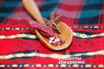 Бадьян, сичуаньский перець і чилі