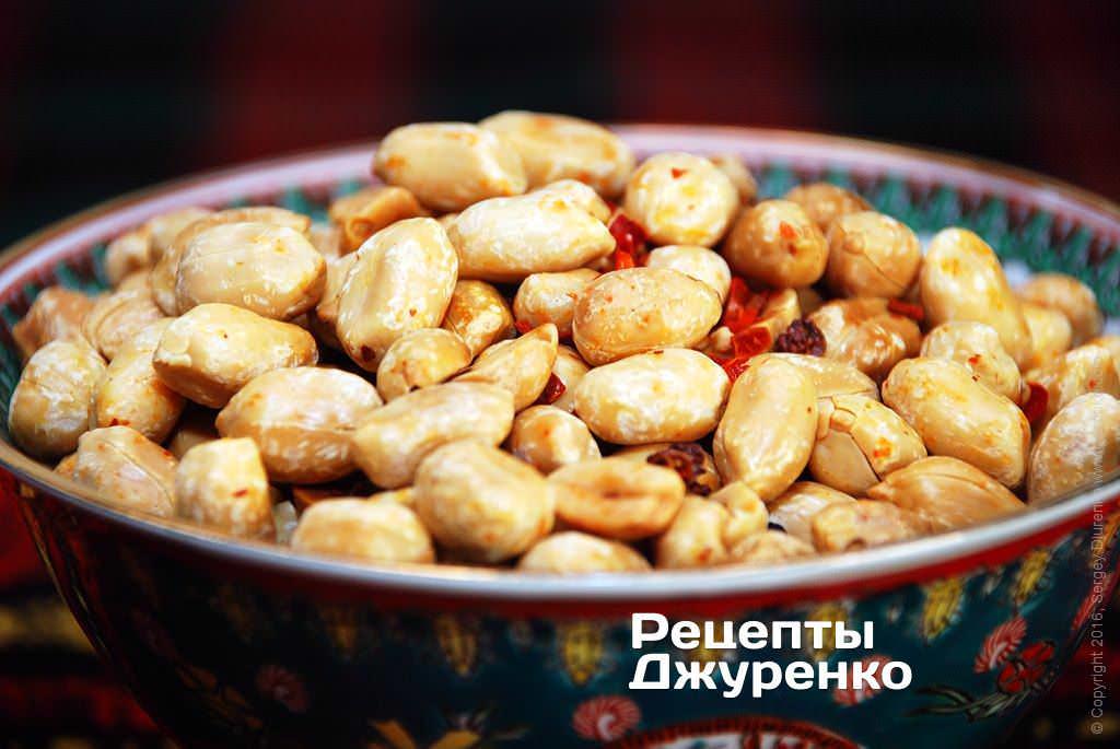 Фото готового рецепту смажений арахіс в домашніх умовах