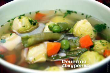 Подавать суп только горячим, суп из овощей так вкуснее всего