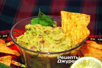 Фото до рецепту: гуакамоле — соус з авокадо