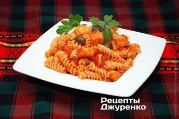 Фото рецепта паста з сьомгою