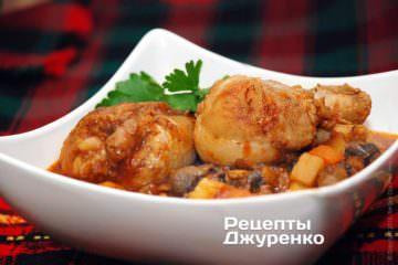 Фото рецепта рагу из курицы