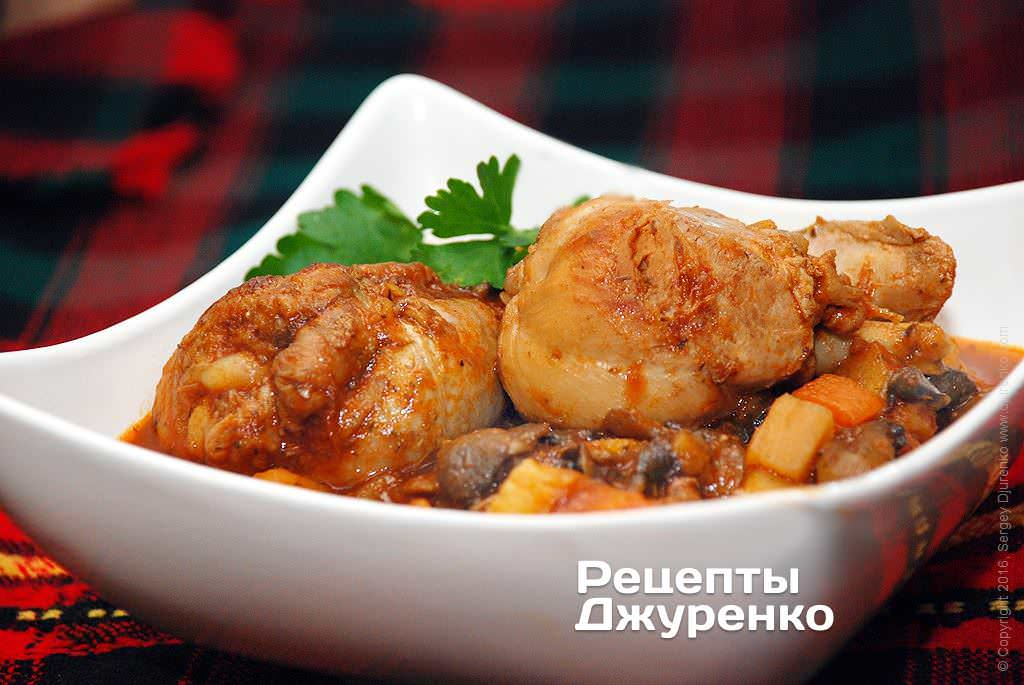 рагу из курицы фото рецепта