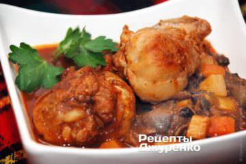 Курица с грибами - вкусный завтрак