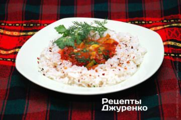 Фото рецепта соус к рису из лука-порея