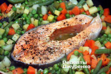 Тушкувати рибу під кришкою до готовності