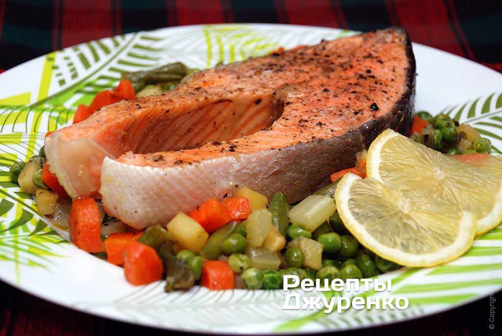 семга с овощами фото рецепта
