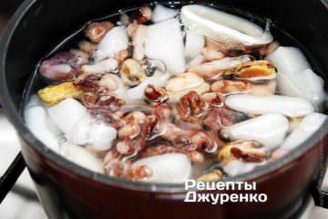 отварить морепродукты