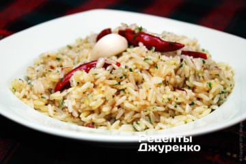 Фото рецепта гострий рис
