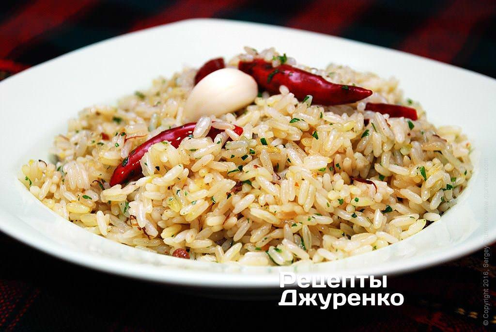 Фото готового рецепта острый рис в домашних условиях