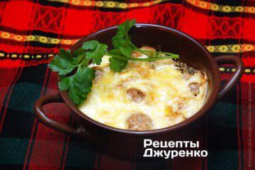 мясо запеченное с сыром