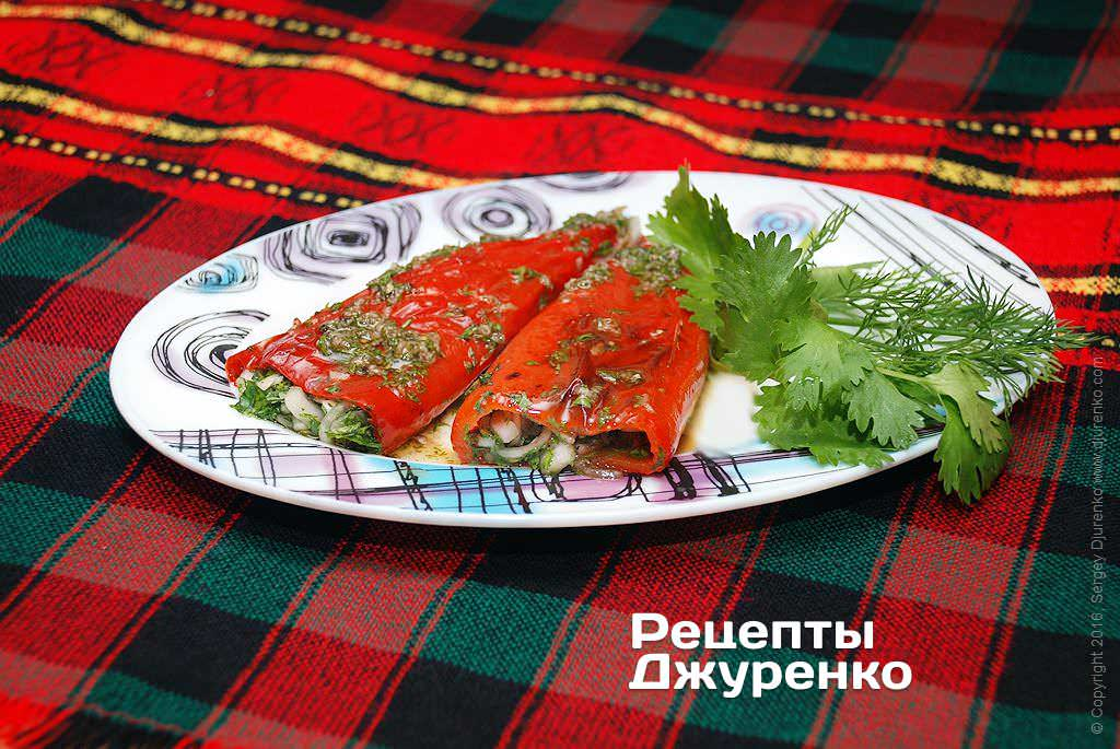 Фото готового рецепта маринованный болгарский перец в домашних условиях