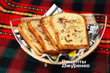 Фото рецепта жареный хлеб