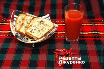 закуска з підсмаженого хліба