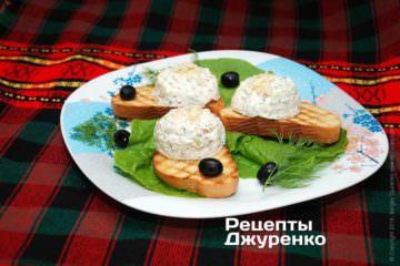 Фото рецепта салат з кислого молока