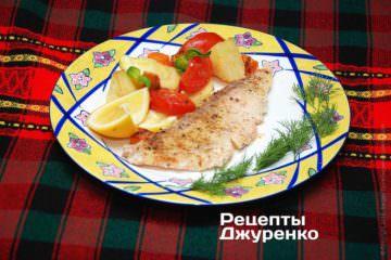 Фото рецепта филе рыбы в духовке